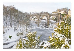 Frozen River Nidd at Knaresborough