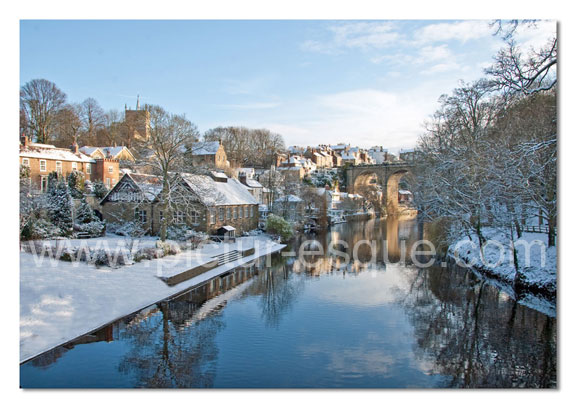 Knaresborough Viaduct from High Bridge Yorkshire Christmas Card by Charlotte Gale