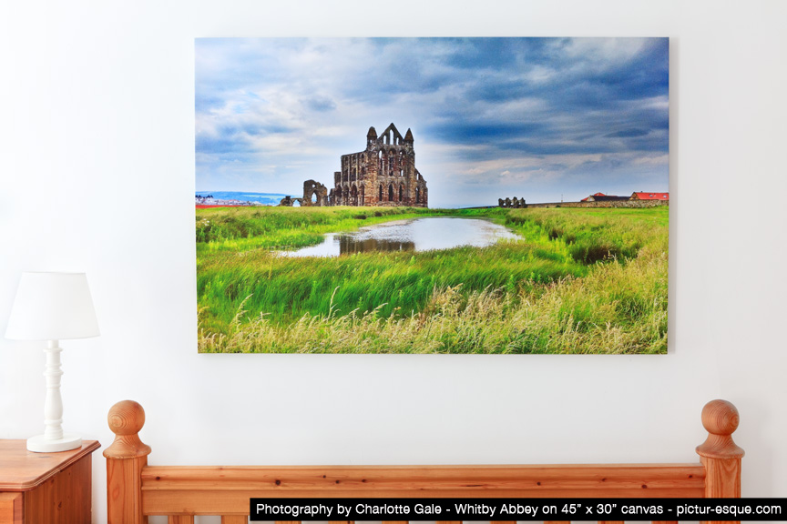 Whitby Abbey Photo on Canvas