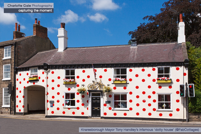 Mayor Tony Handley's red spotty house Knaresborough