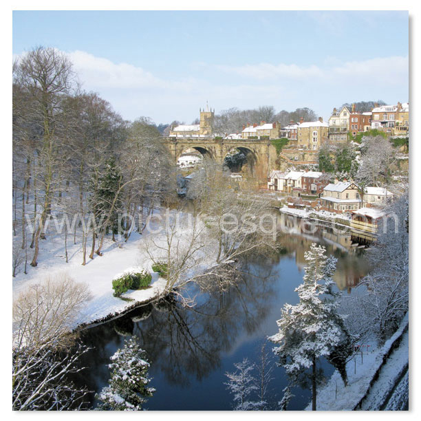 Knaresborough Viaduct in Snow Christmas Card