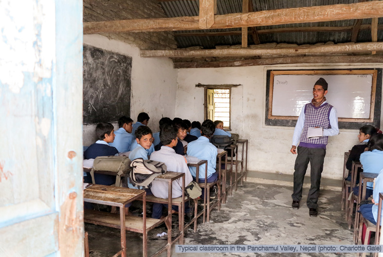 Classroom in Nepal