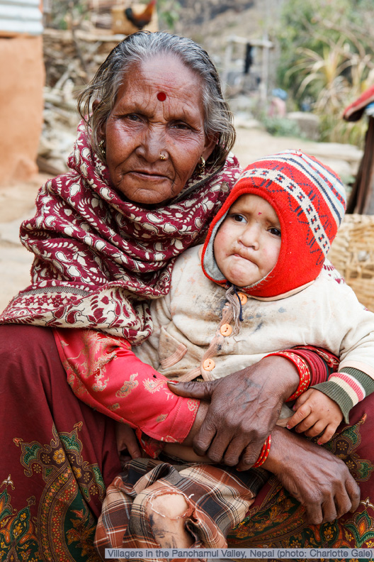 Old lady and child, Nepal