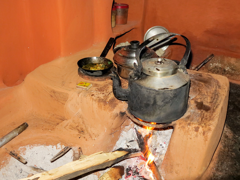 Cooking on an open fire in Nepal