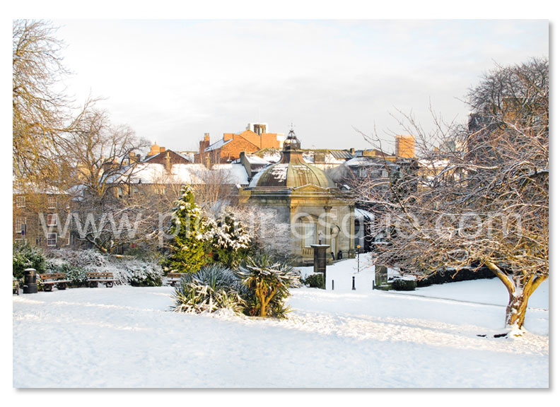 A Christmas card featuring a photo by Charlotte Gale of The Pump Room in Harrogate at Christmas