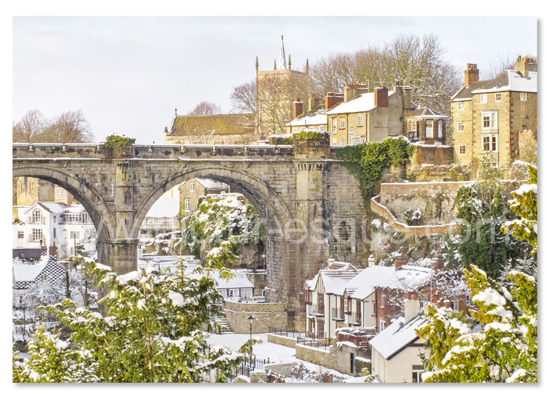 Knaresborough Viaduct in the Snow Luxury Christmas Card