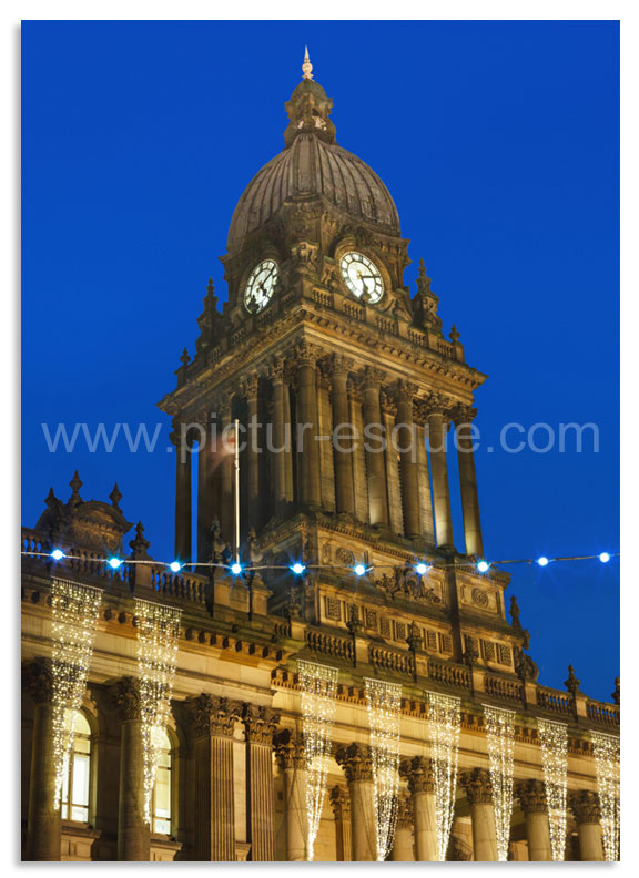 Leeds Town Hall Luxury Christmas Card