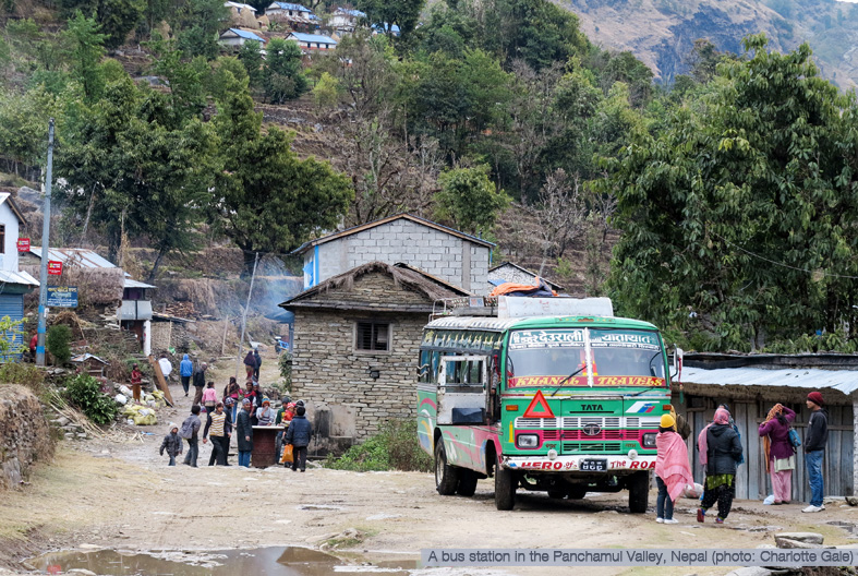 Bus station in Nepal