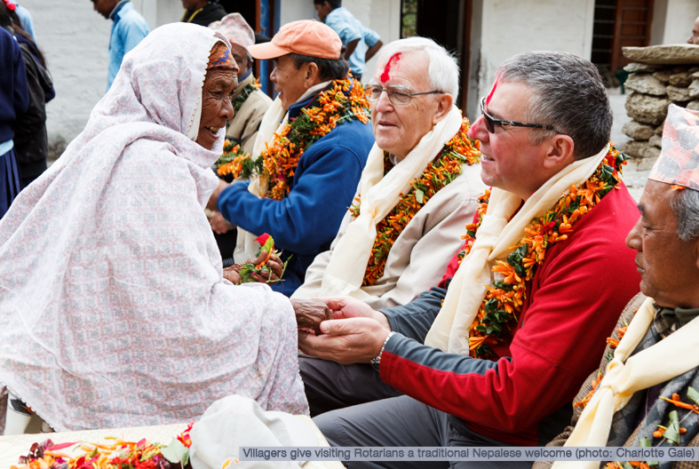 Villagers in Nepal