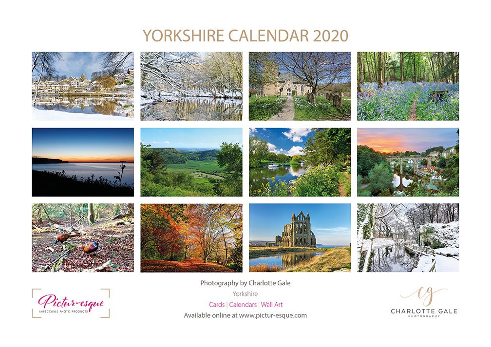 Yorkshire 2020 Wall Calendar by Charlotte Gale