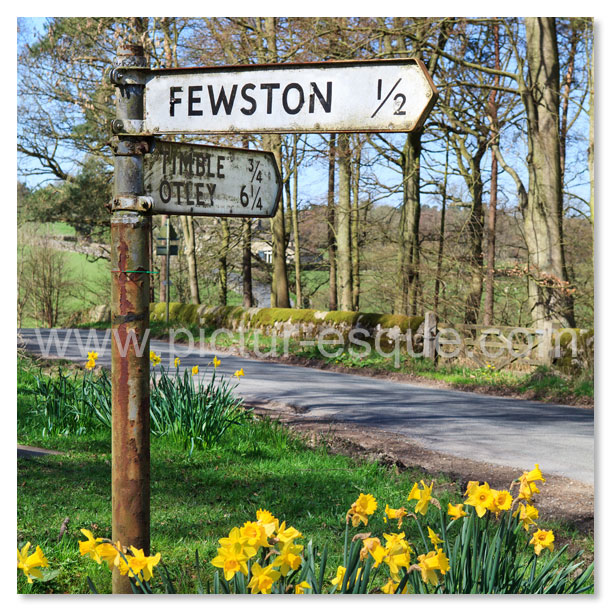 Road to Fewston Sign