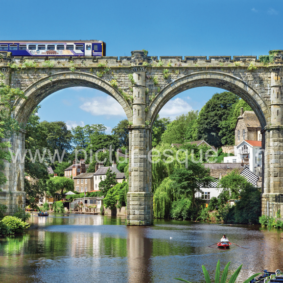 Train across the viaduct