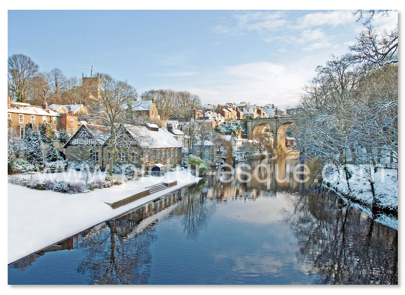 Knaresborough Viaduct from High Bridge Christmas Card